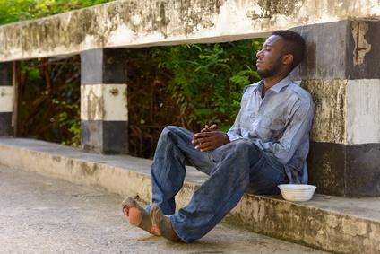 Homeless African